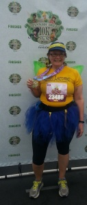 I ran the Tinkerbell 10K dressed as a Lemonade Stand Fairy