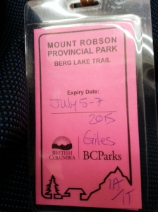 My trail pass