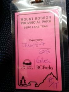 My trail pass