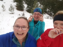 trail running with sprinters
