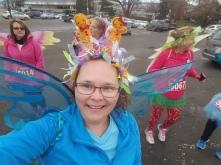 Sugar Plum fairies at the Santa Shuffle