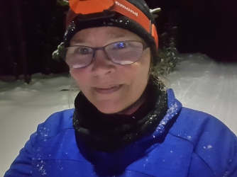 Night skiing with the gruffalo