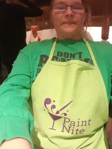 me rocking the apron