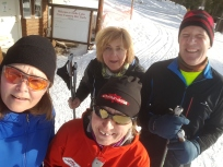 Ski Lesson with Lisa Palechuk, Jody and Gerry and me